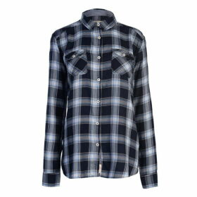 SoulCal LS Check Shirt Ladies - Navy Check