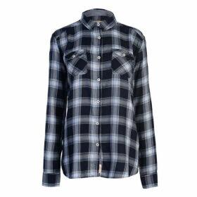 SoulCal LS Check Shirt Ladies - Blue