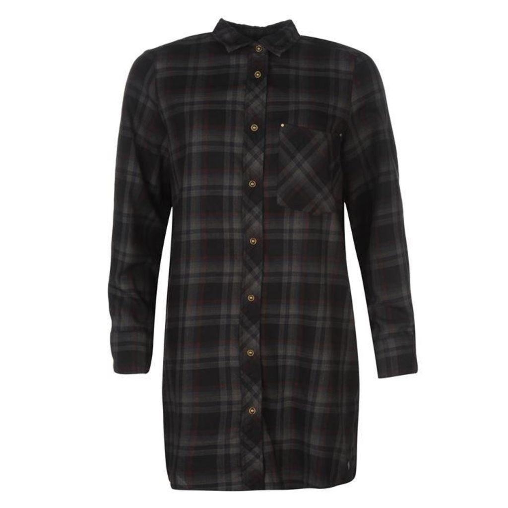 Firetrap Blackseal Long Length Check Shirt
