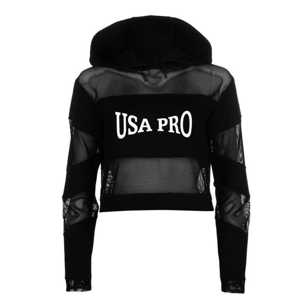 USA Pro Little Mix Mesh Hoodie Ladies
