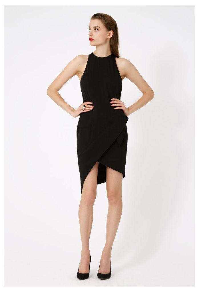 Alexia Asymmetric Mini Dress - Black