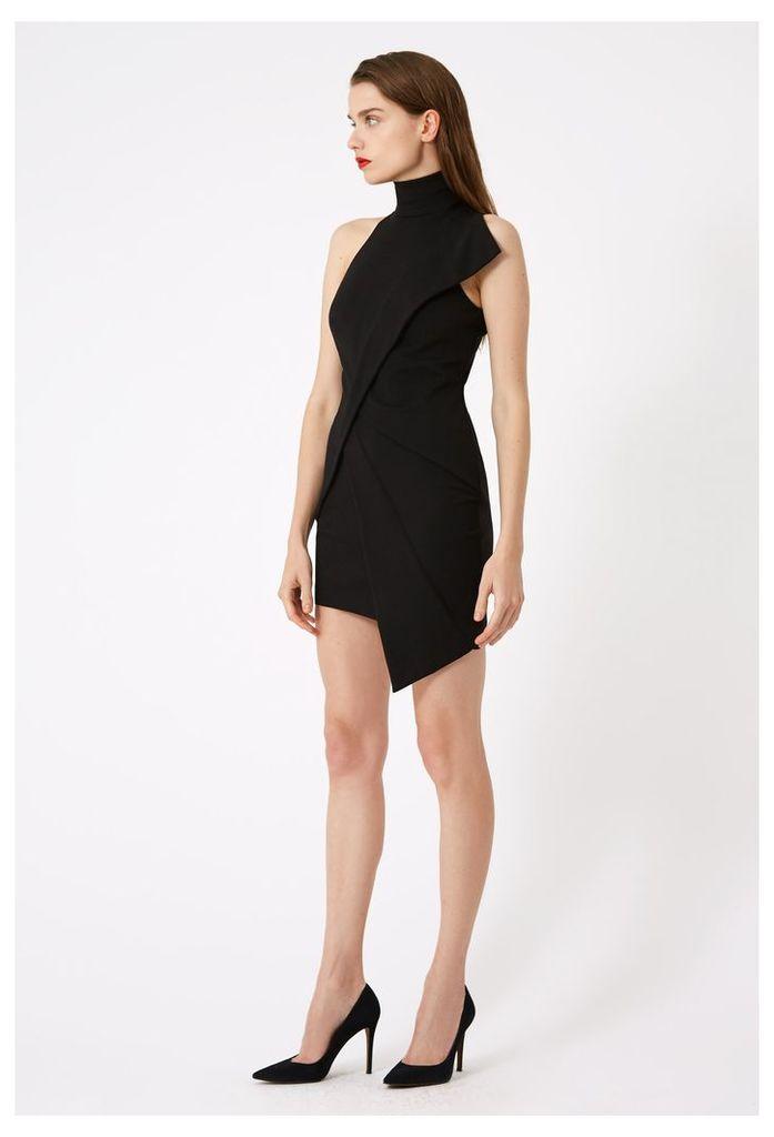 Lorelai Asymmetric Mini Dress - Black
