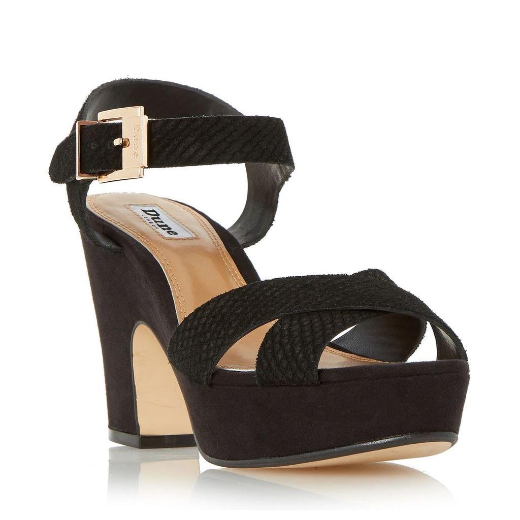 Iyla Cross Vamp Block Heel Sandal