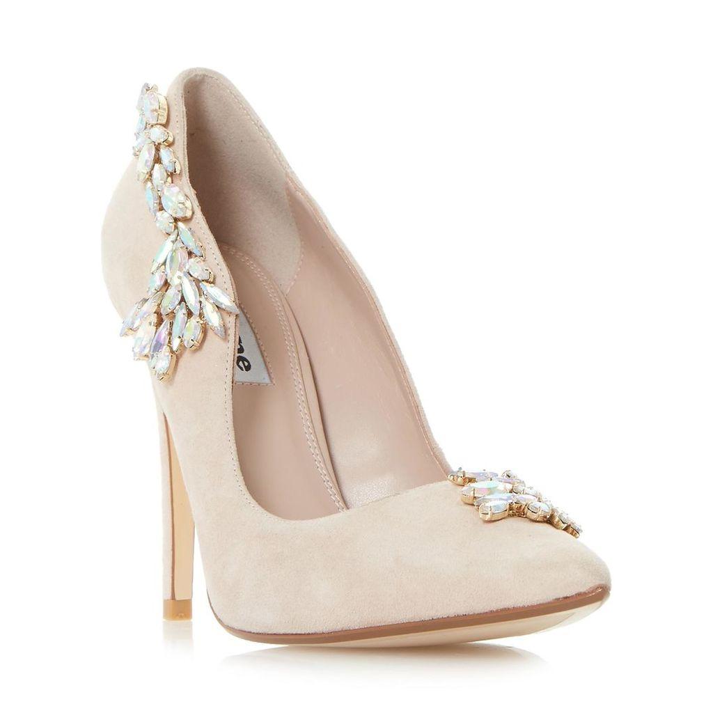 Bestowed Jewelled Cascade High Heel Court Shoe