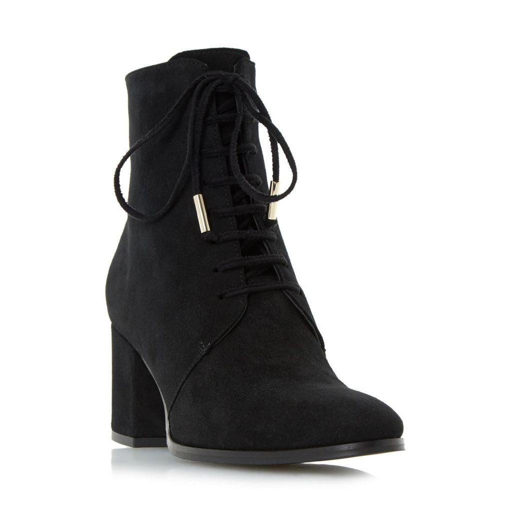 Olita Lace Up Block Heel Ankle Boot