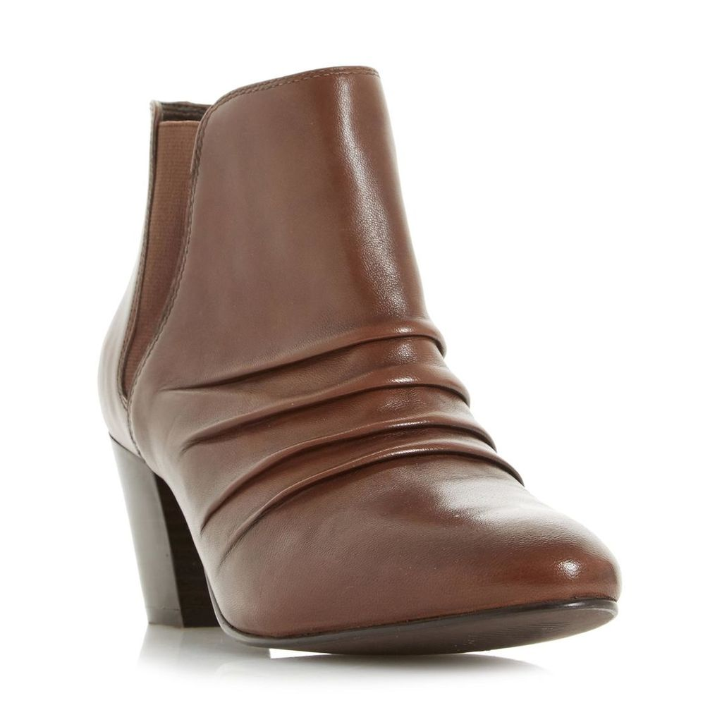 Obscure Ruched Heeled Ankle Boot