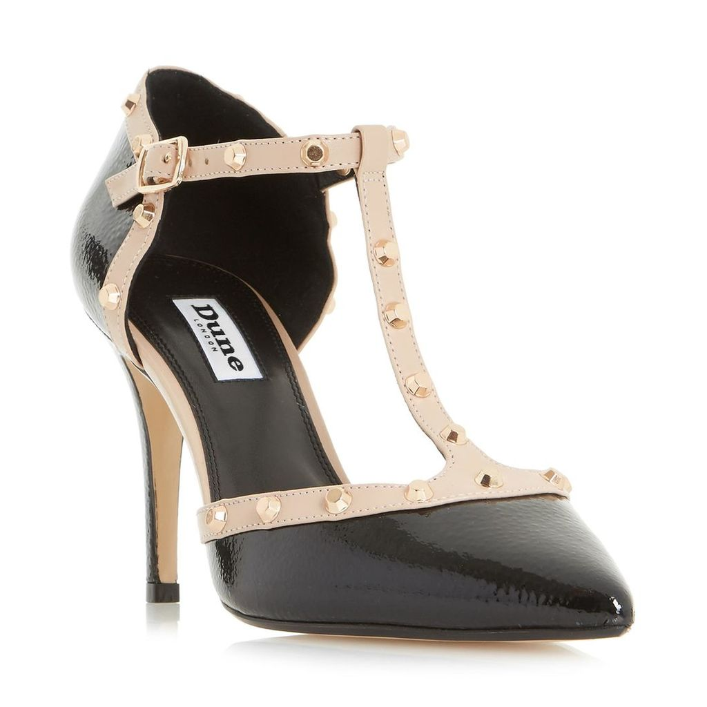 Cliopatra Studded T-Bar Court Shoe