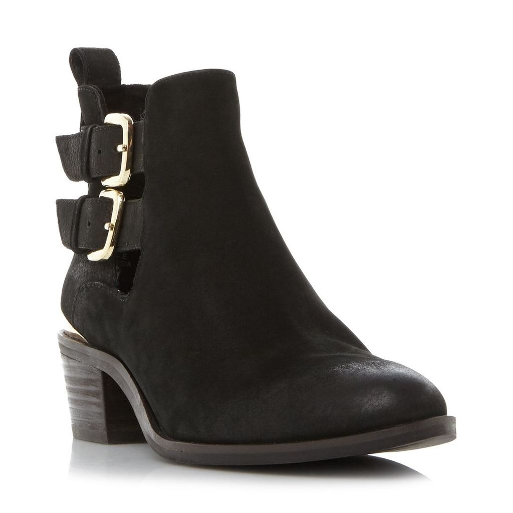 Picos Sm Cut Out Double Buckle Strap Ankle Boot