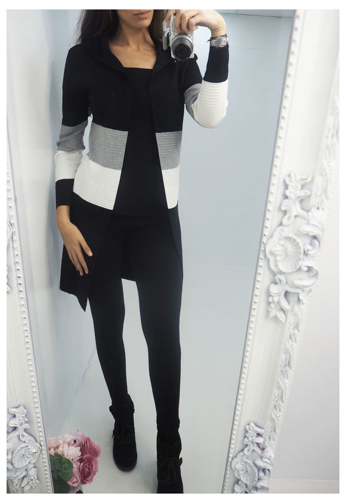 Madeline colour block knitted cardigan