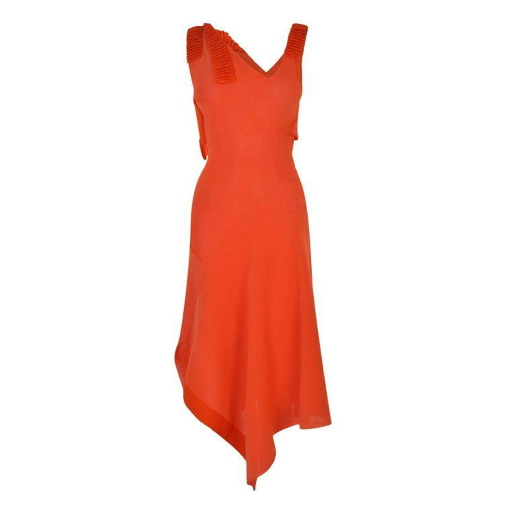 VICTORIA BECKHAM Knitted Shine Flared Dress