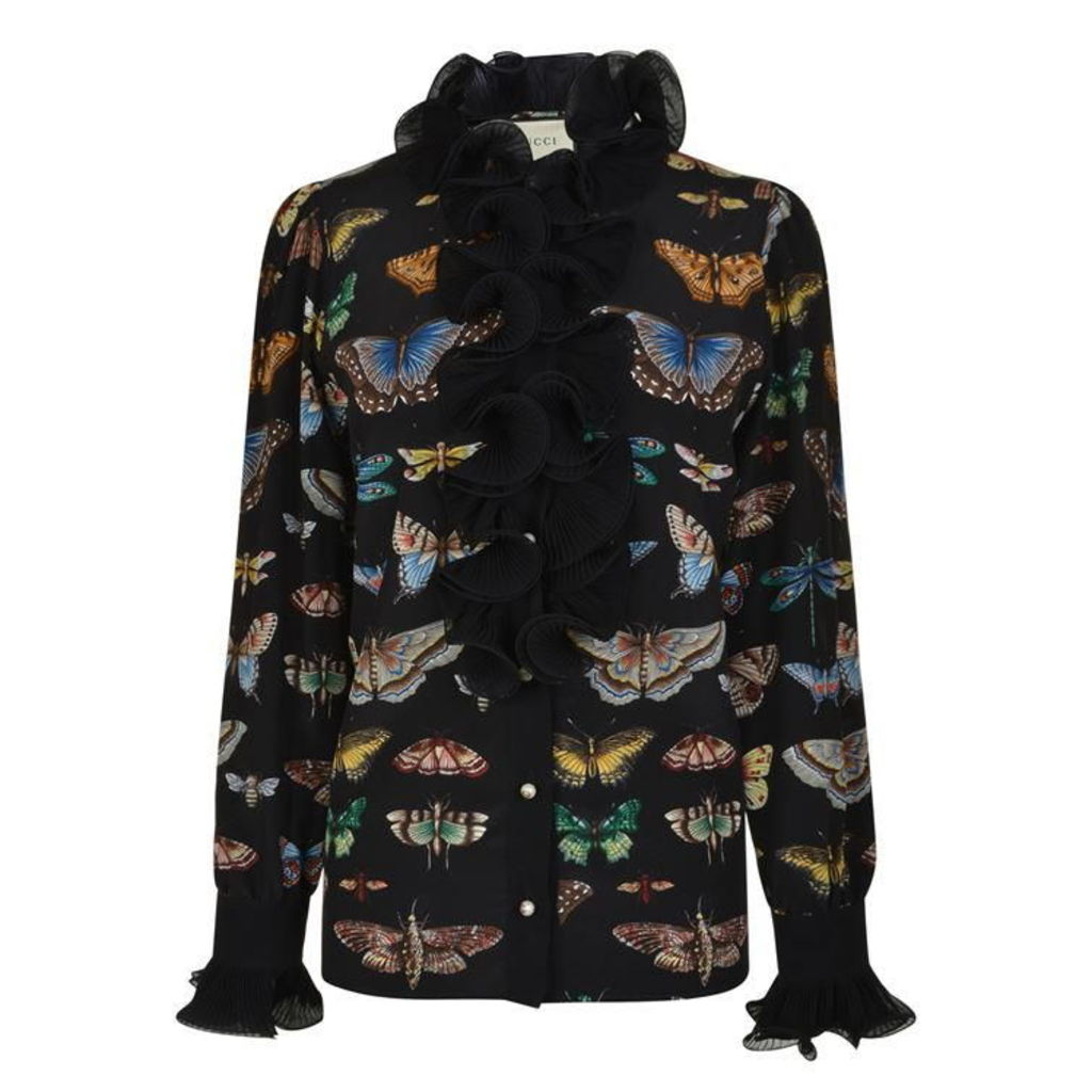 GUCCI Butterfly Frill Blouse