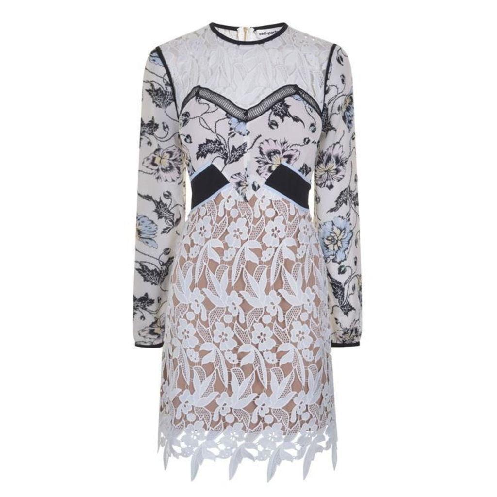 SELF PORTRAIT Swallow Guipure Mini Dress