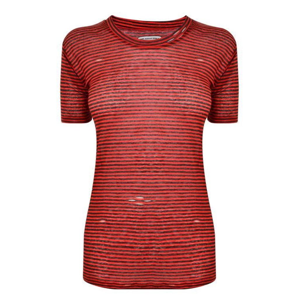ISABEL MARANT ETOILE Contrast Stripe Tshirt