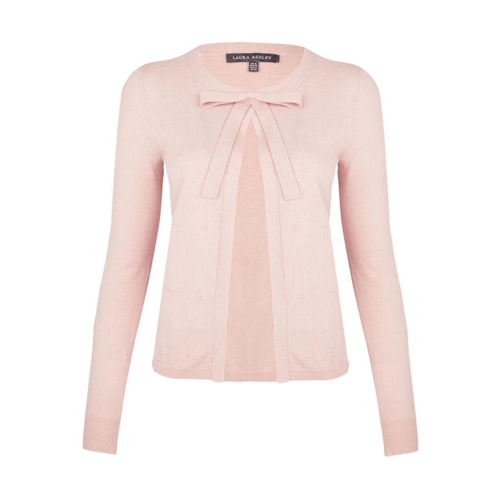 Pink Long Sleeve Dotty Cardigan