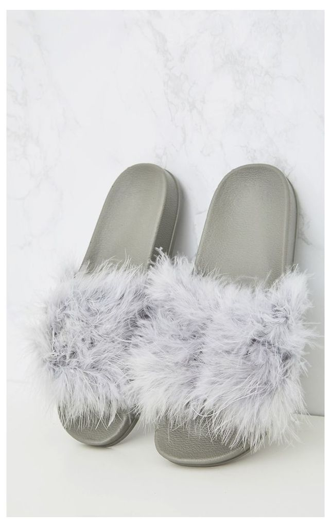 Grey Feather Sliders, Grey