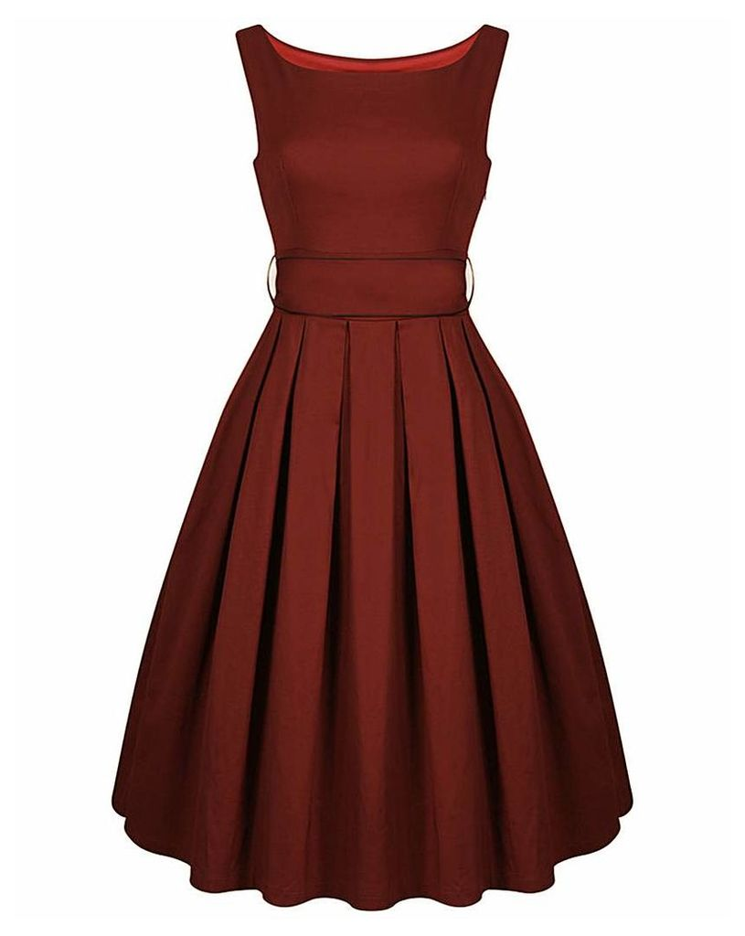 Lindy Bop Lana Burgundy Swing Dress