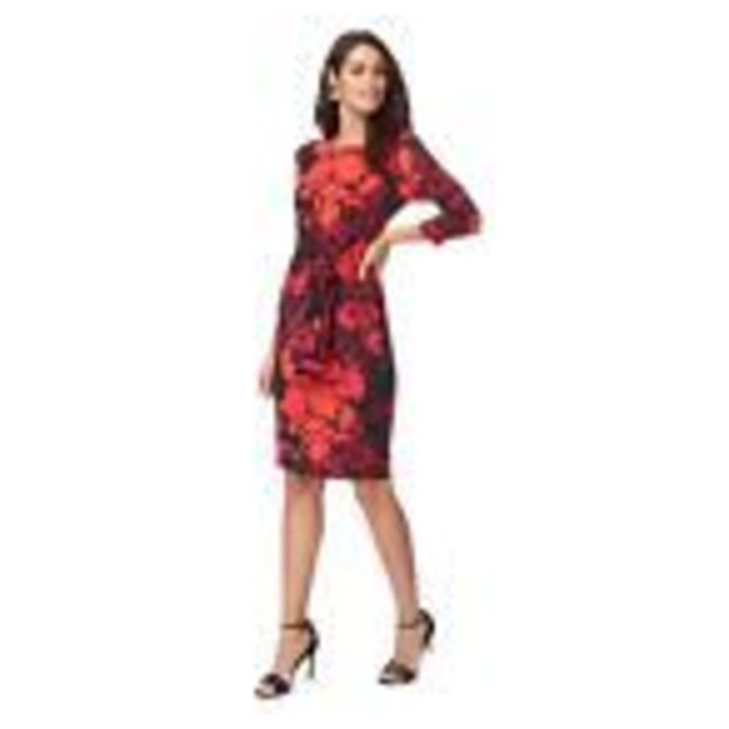 The Collection Womens Red Floral Print Shift Dress From Debenhams