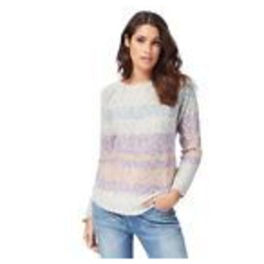Mantaray Womens Light Grey Yarn Striped Jumper From Debenhams