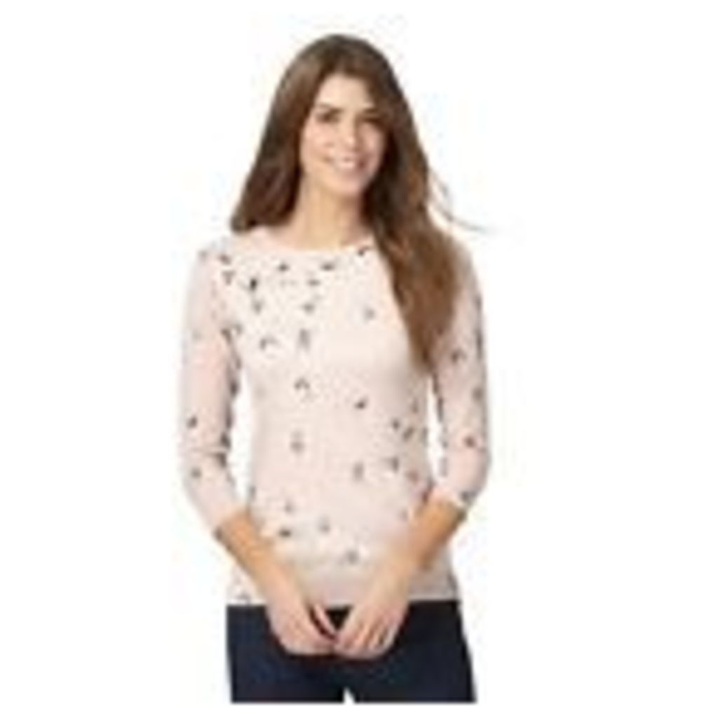 The Collection Womens Light Pink Floral Print Jumper From Debenhams 22