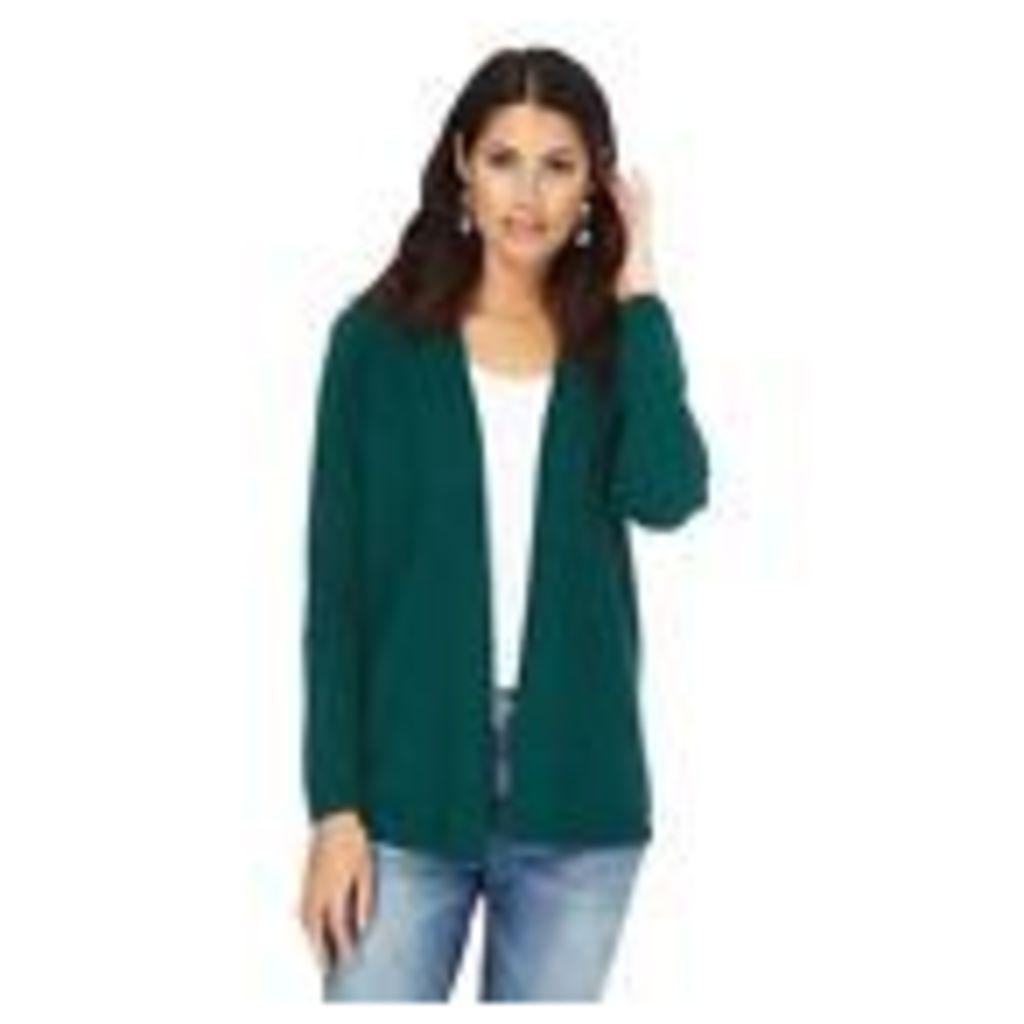 Maine New England Womens Dark Green Textured Striped Cardigan From Debenhams