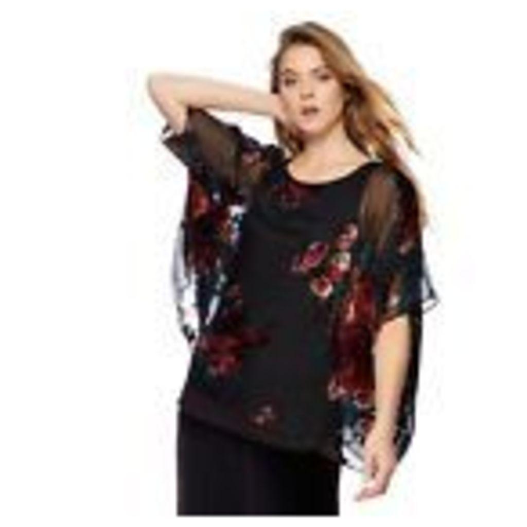 Rjr.John Rocha Womens Multi-Coloured Floral Devore Top From Debenhams
