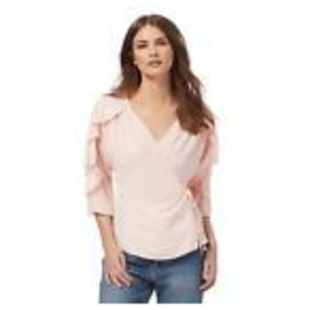 Nine By Savannah Miller Womens Pink Frilled Top From Debenhams 6