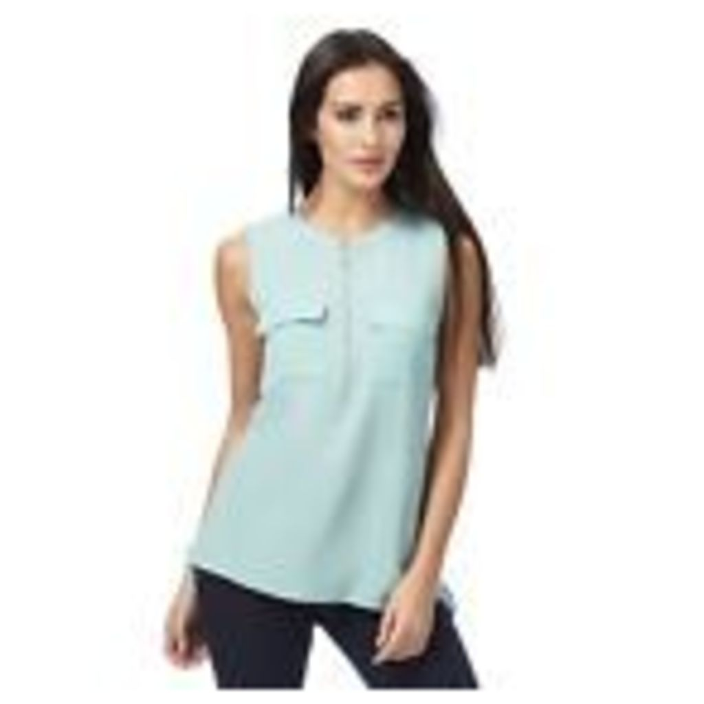 The Collection Womens Light Green Sleeveless Zip Detail Top From Debenhams 8