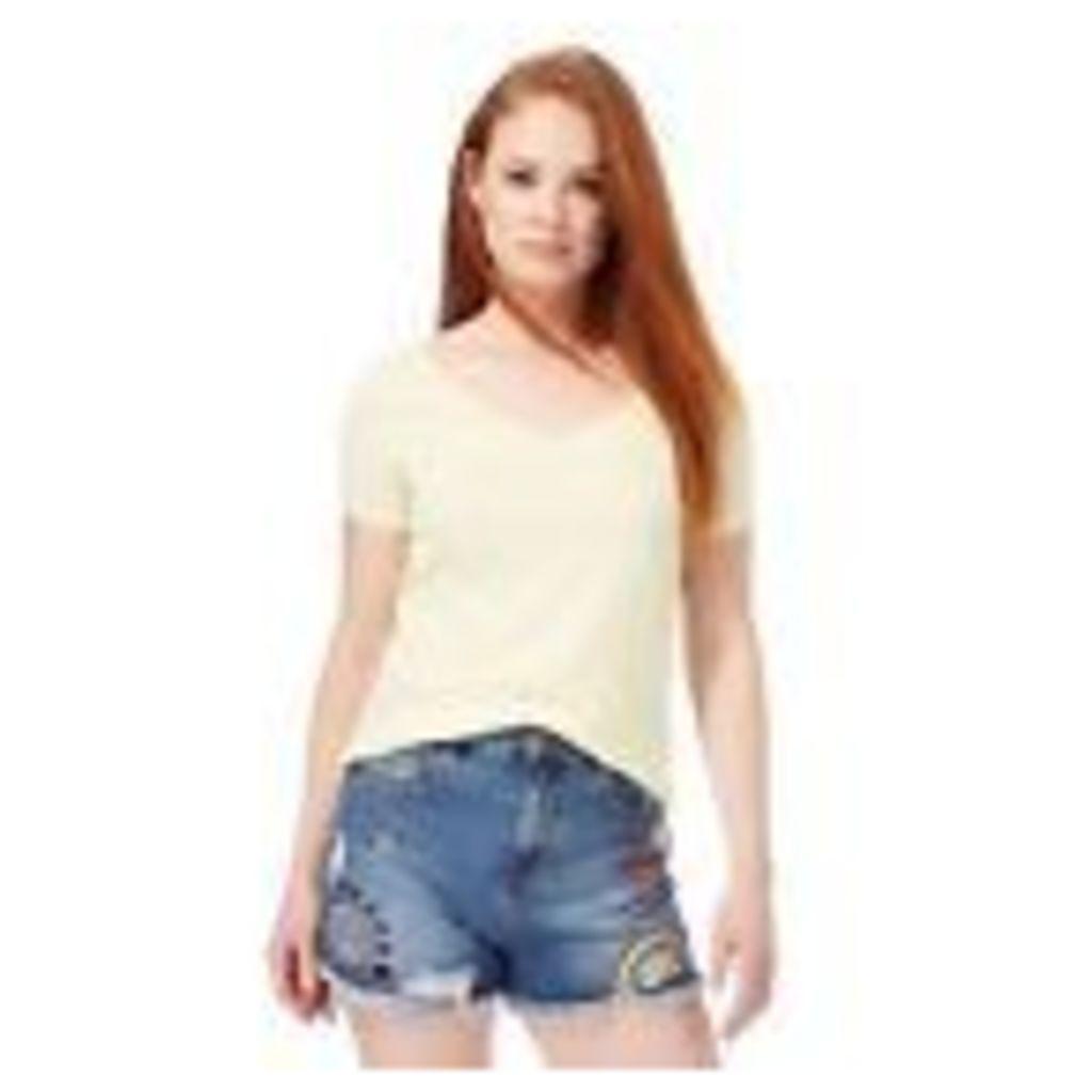 Red Herring Womens Yellow Cross Back T-Shirt From Debenhams 14