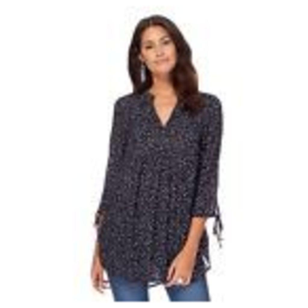 The Collection Womens Navy Blue Spot Print Woven Blouse From Debenhams 8