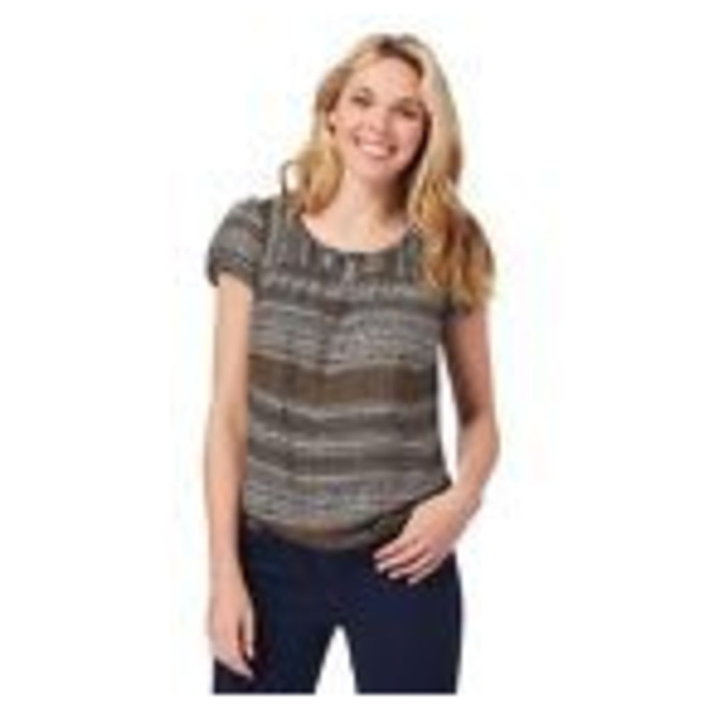 Maine New England Womens Multi-Coloured Patterned Bubble Hem Top 10