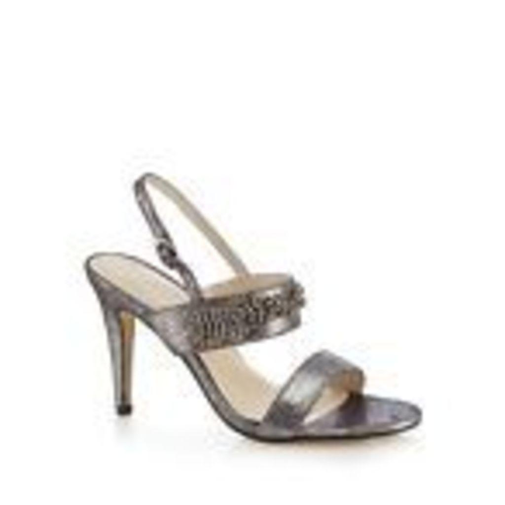 Debut Silver Metallic 'Devon' High Stiletto Heel Sandals From Debenhams