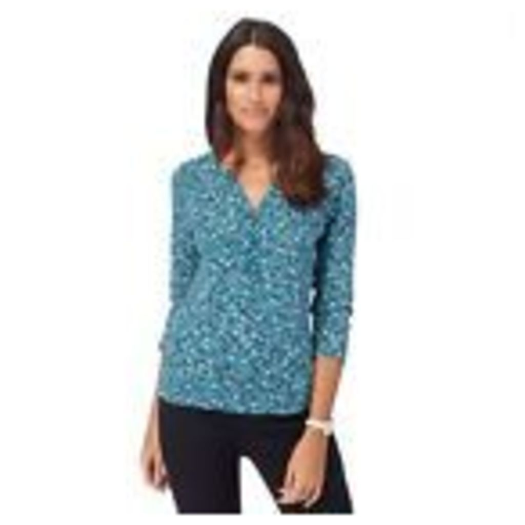 Maine New England Womens Turquoise Floral Print Top From Debenhams