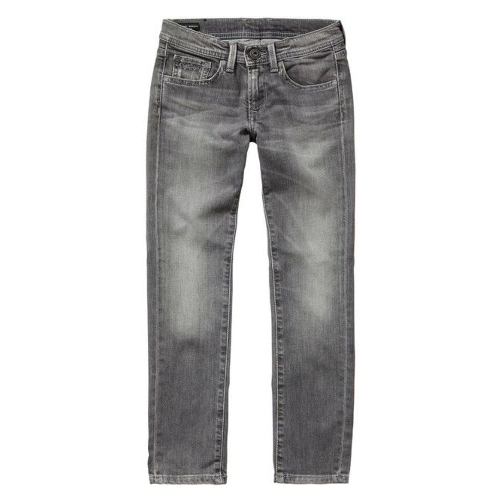 Faded Straight Jeans, 8-16 Years