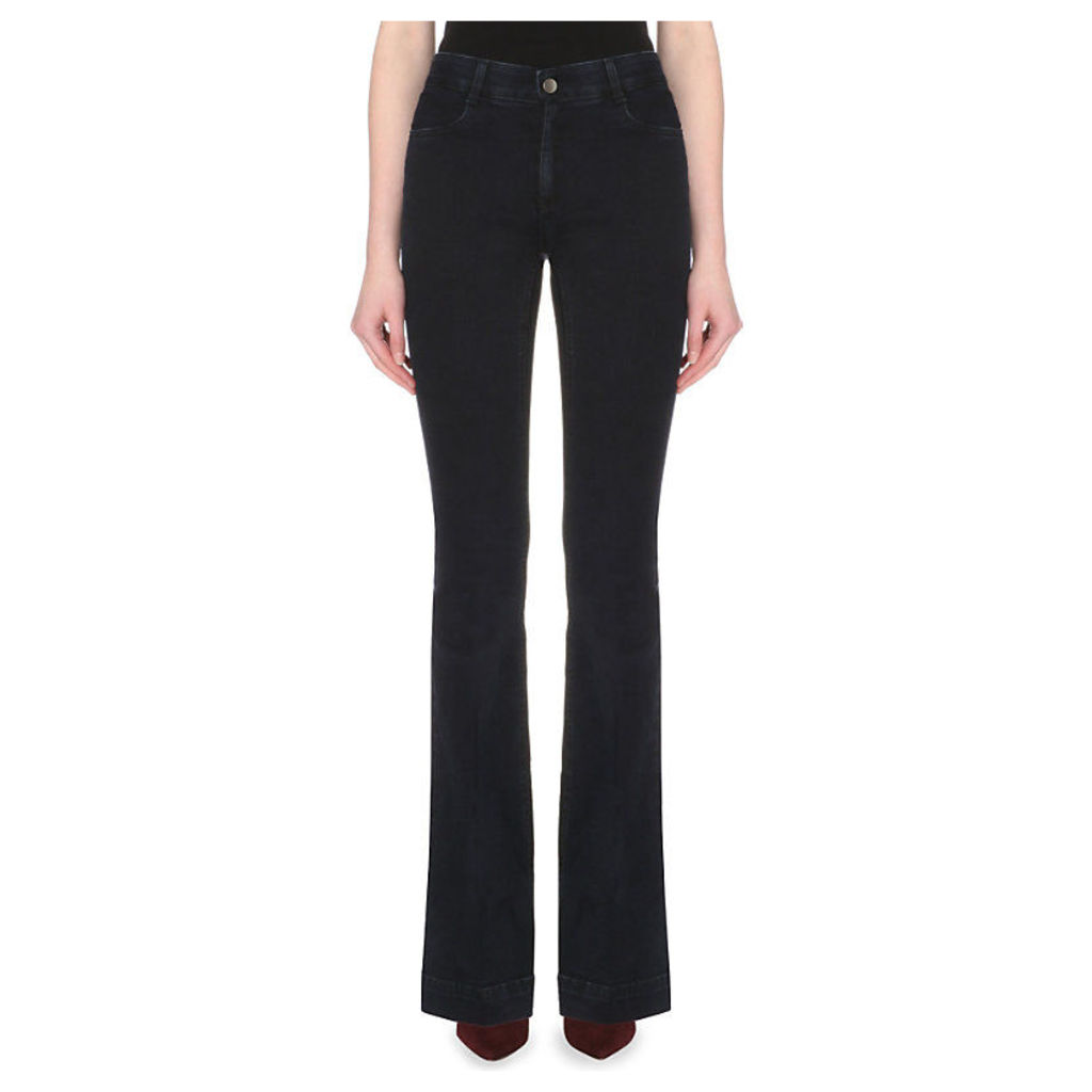 Stella Mccartney Flared mid-rise jeans, Women's, Size: 24/01/1900, Blue/blk