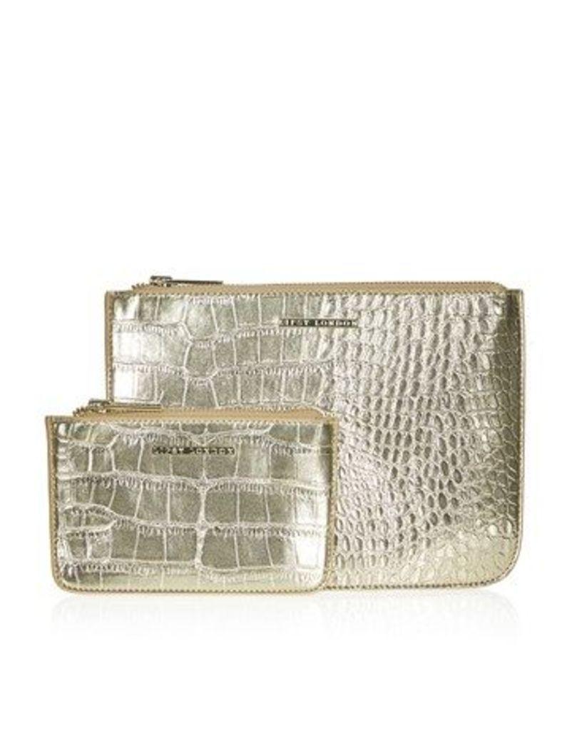 Lipsy Two Pack Faux Croc Bag Set