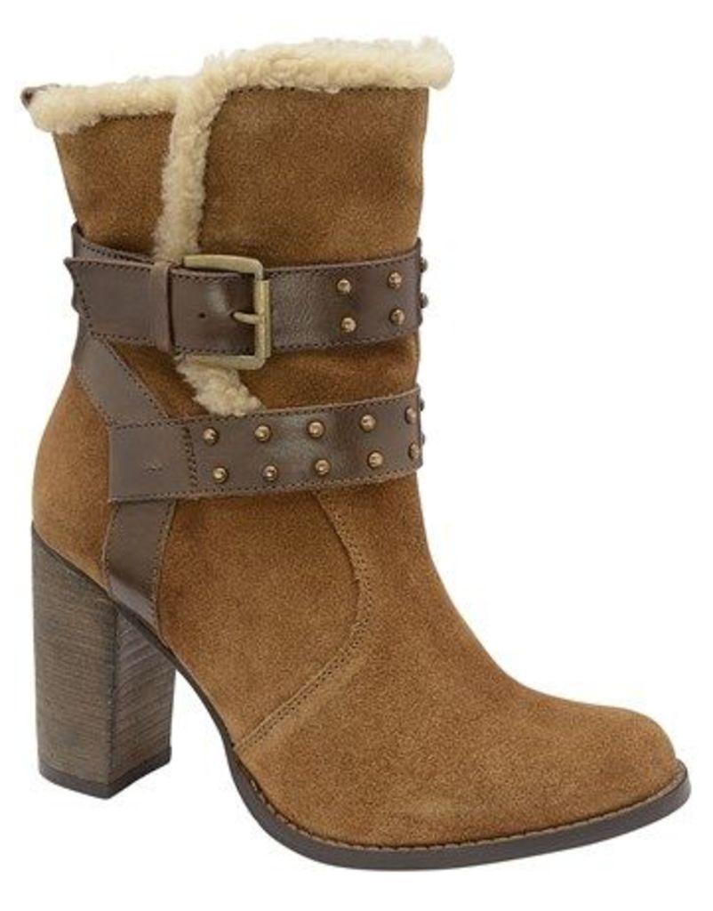 Ravel Block Heel Ankle Boots