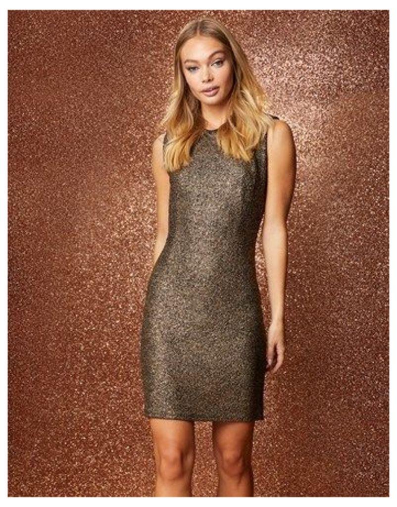 Mela London Metallic Bodycon Dress