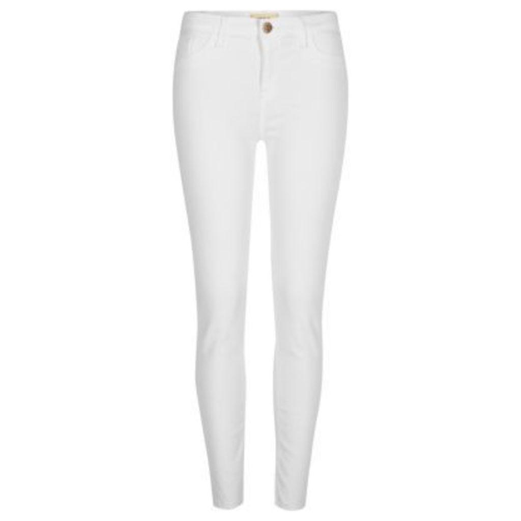 River Island Womens White Amelie super skinny jeans