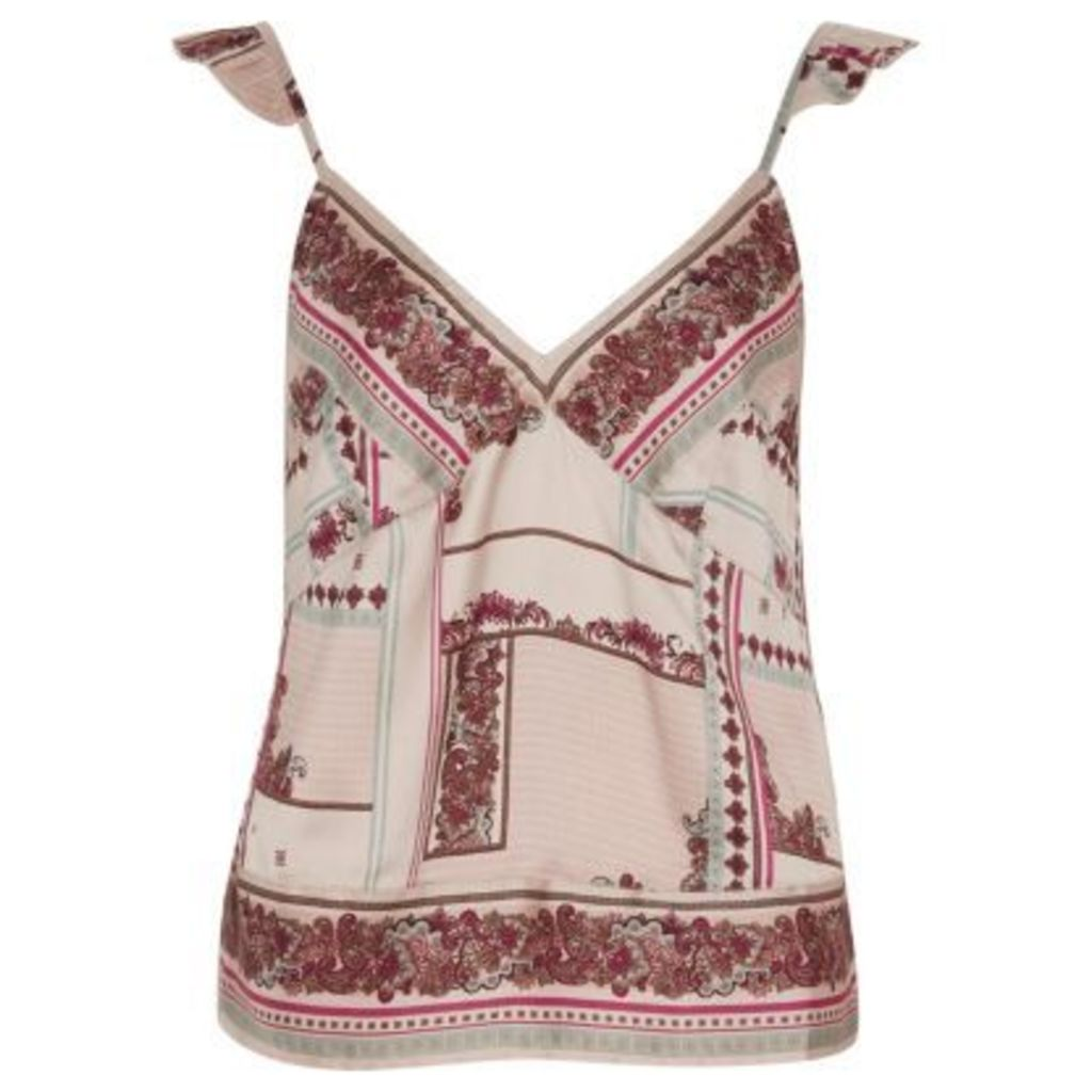 River Island Womens Cream floral cami pyjama top