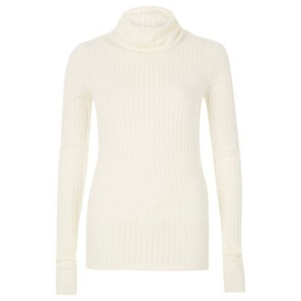 River Island Womens Cream ribbed roll neck top