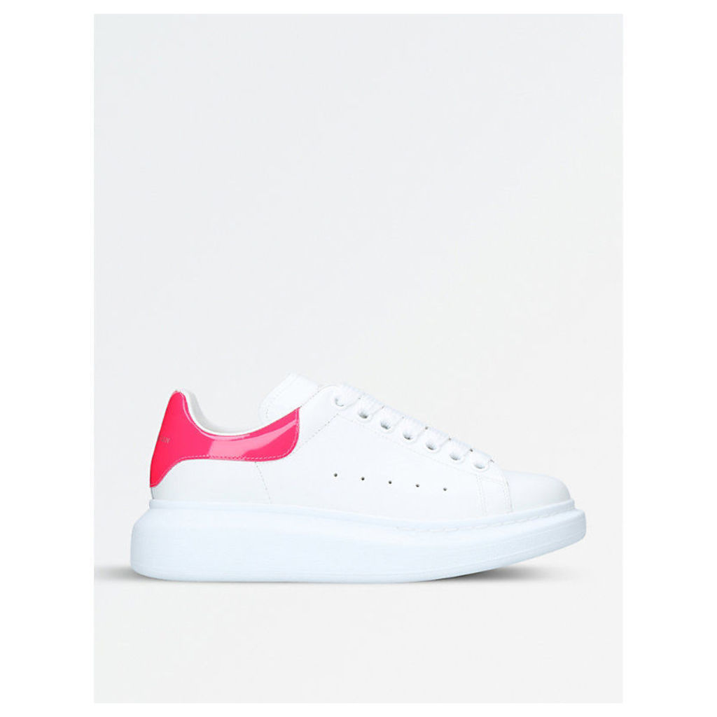 Runway leather trainers