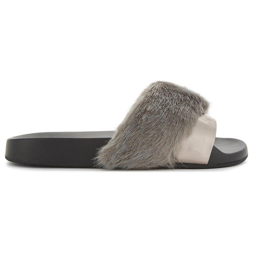 Gotta faux-fur sandals
