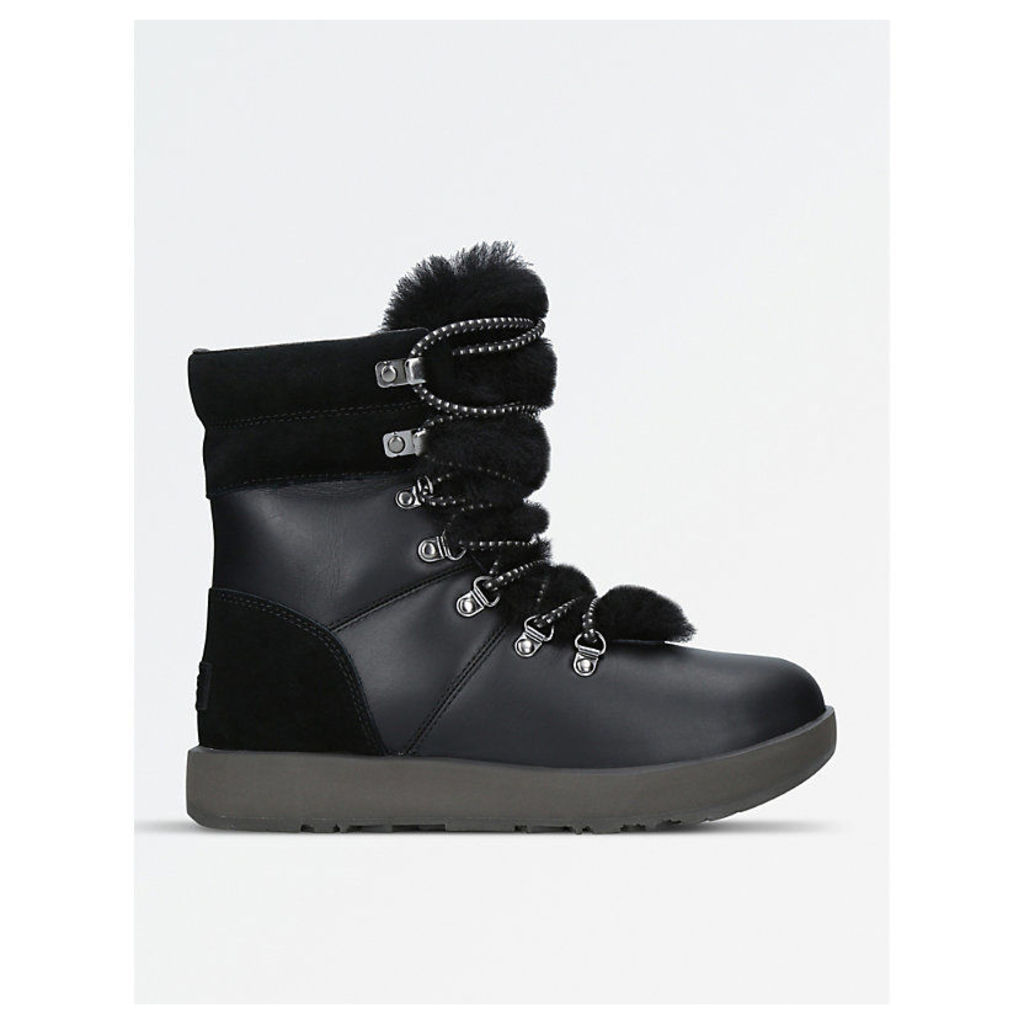 Viki waterproof leather, suede and sheepskin boots