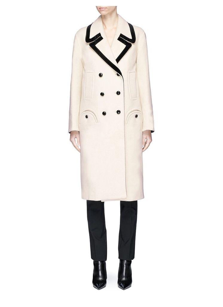 'Woodland' double breasted wool melton coat