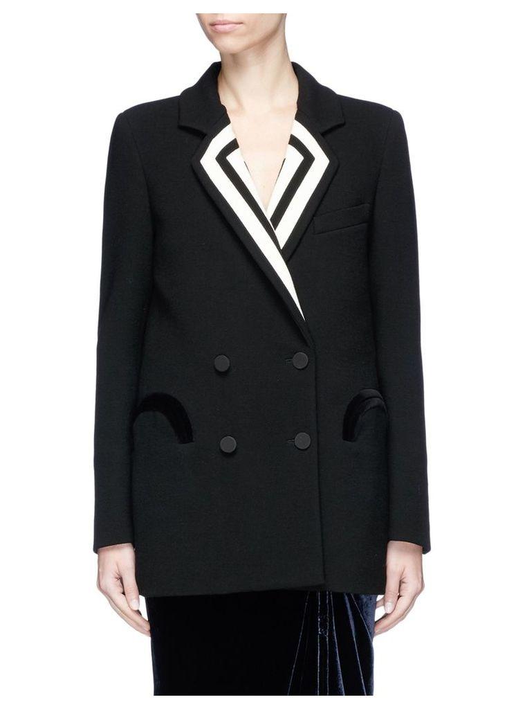 'Resolute' stripe lapel wool blazer