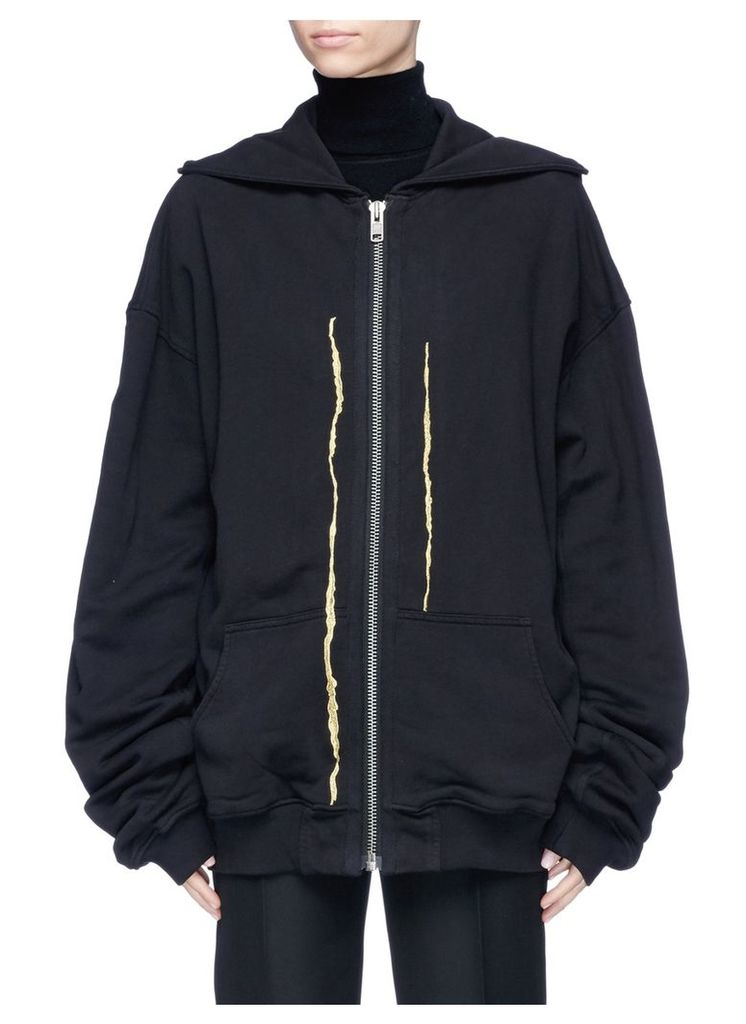 'Perth' metallic embroidered hoodie