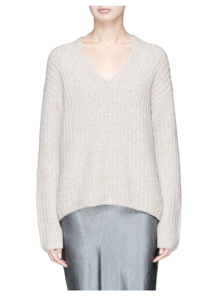 V-neck cashmere blend sweater