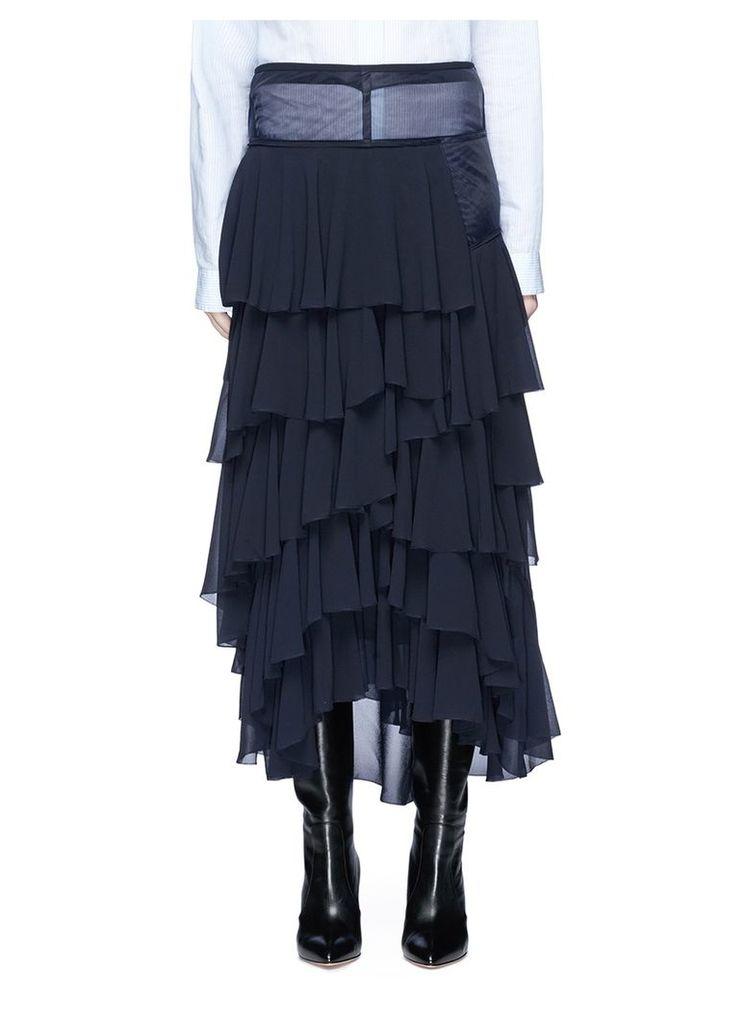 Tiered ruffle georgette skirt