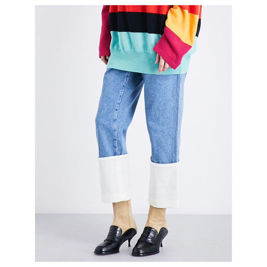 Fisherman wide cropped high-rise jeans