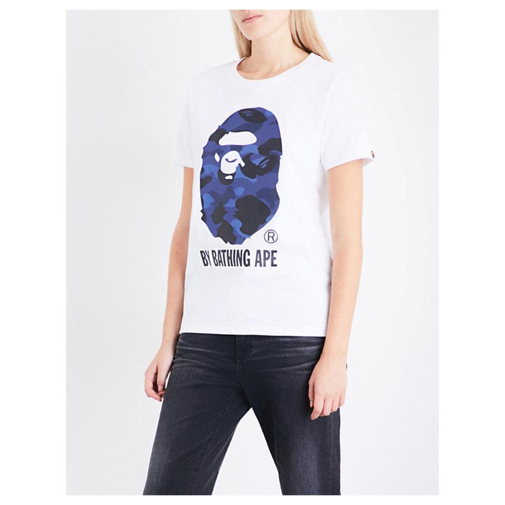 Camouflage Big Ape Head cotton-jersey T-shirt